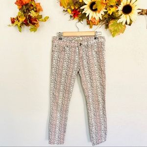 Free People Cropped Skinny Jeans Size 26
